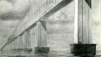 Первый поезд по Керченскому мосту прошел 74 года назад